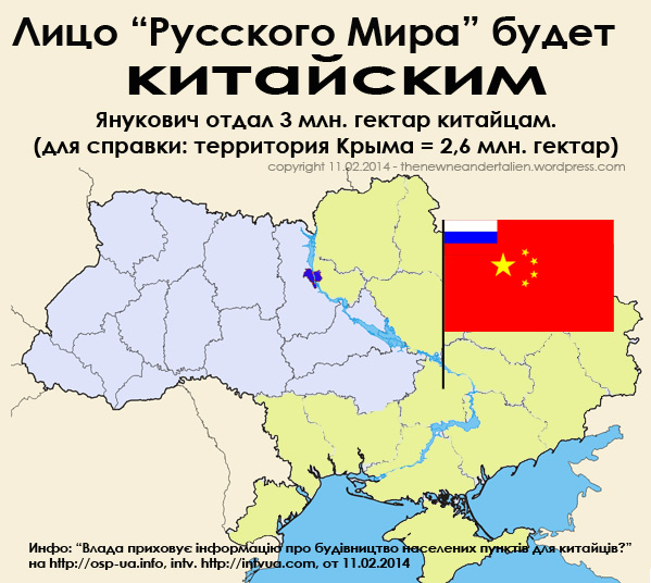 """Russian World"" in Ukraine will have a Chinese face"