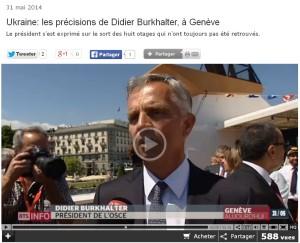 Didier Burkhalter - president de la Suisse et un collaborateur de Putin