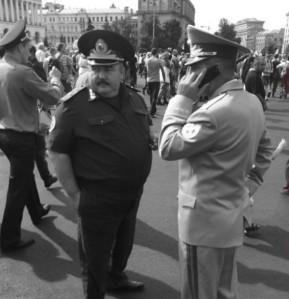 Генералы-мусора на Майдане 24.08.2014, куда не пустили Батальон