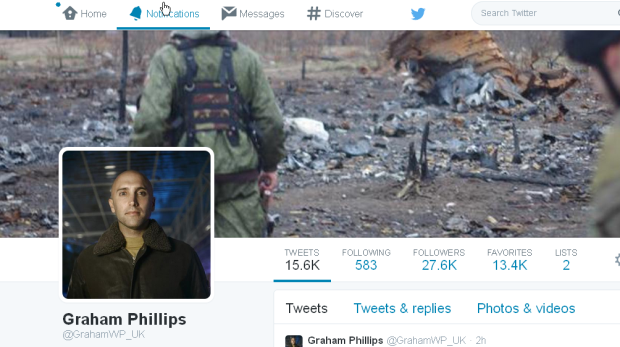 Graham Phillips, suicidal sect member, twitter page