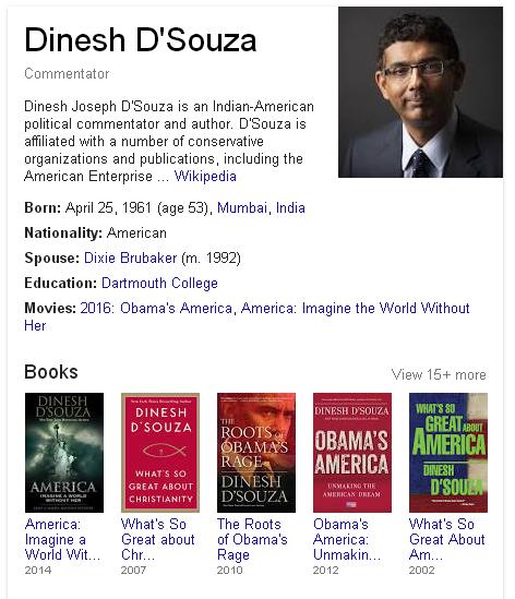 Dinesh D'Souza Commentator - Динеш Д'Суза