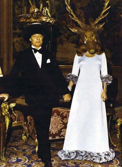 Лондонская секта Глобалистов - Геноцидщиков. Ротшильд с женой в масках.