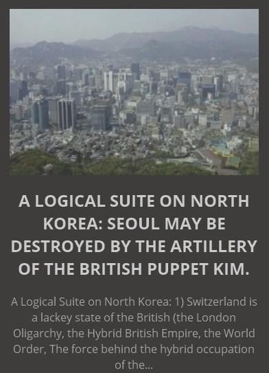 """Северная Корея - это абсурдная корейская """"новороссия"""", созданная британскими спецслужбами. При пособничестве идиотов из ЦРУ и Госдепа."""